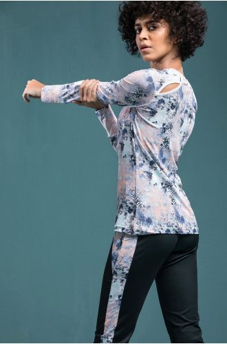 Abstract Cut-out Top