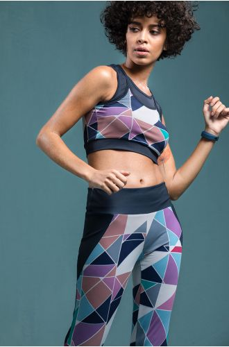 Geometric Dri-Fit Top