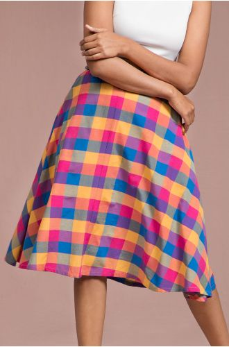 Eclectic Check Skirt