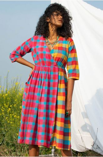 Eclectic Check Dress