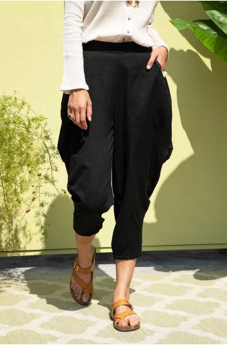 Onyx Embroidered Pants