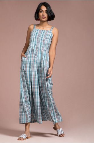 Stroke Sleeveless Jumpsuit