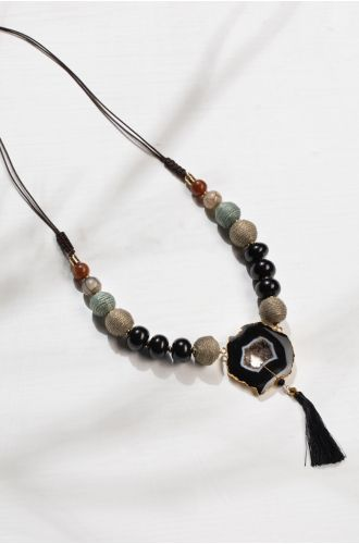 MOONSHINE AGATE NECKLACE