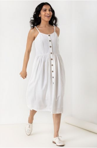 White Swing Dress