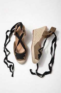 Moss Laced Up Espadrilles