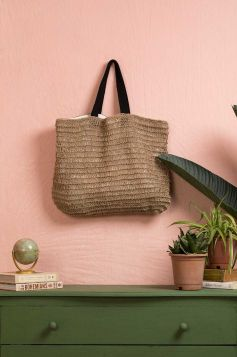 Fringed Flapper Jute Bag