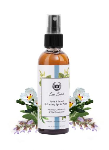 Seer Secrets Labdanum, Patchouli & Wild Gooseberry Face & Beard Softening Wash