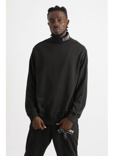 ABG Perfect Black Turtle Neck BEING MY SELF Sweatshirt