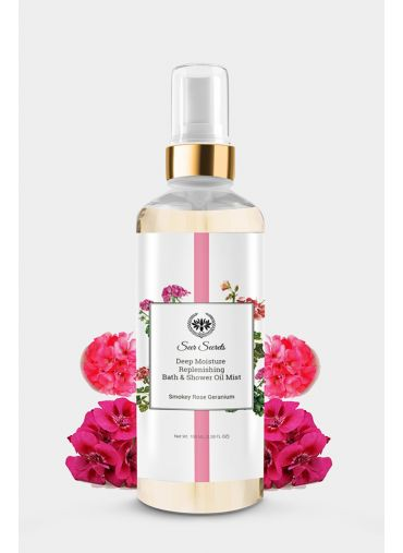 Seer Secrets Smoky Rose Geranium Deep Moisture Bath Oil