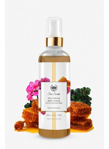 Seer Secrets Honey & Geranium Pore-Refining Multi Cleanser - Dry Skin
