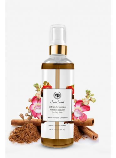 Seer Secrets Lemon Shorea Cinnamon Sebum Retarding Facial Cleanser