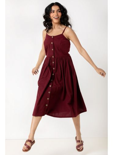 Osho Red Swing Dress