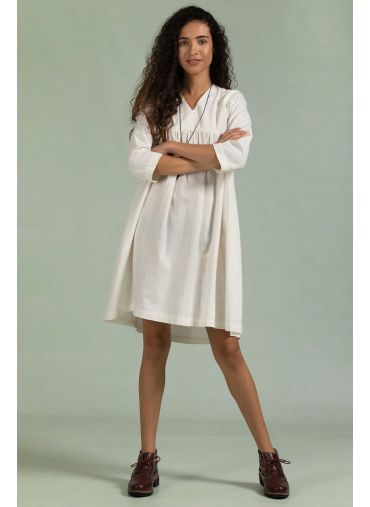 Blanched Austere Dress