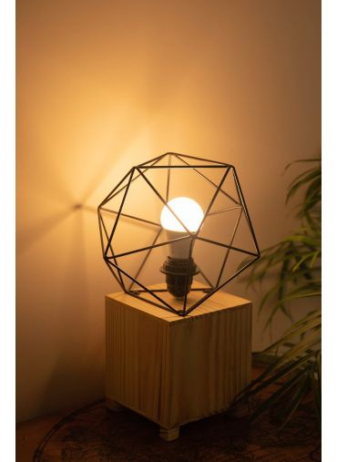 Geometric Wooden Lamp
