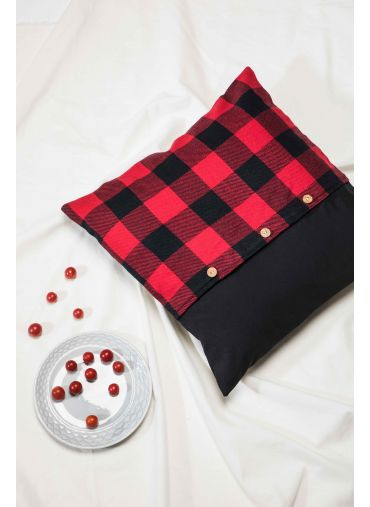 Red Check Cushion Cover