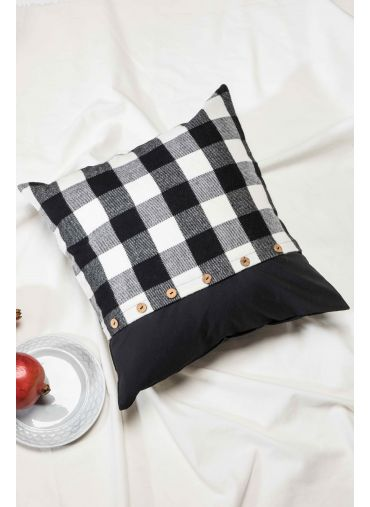 Black Check Cushion Cover