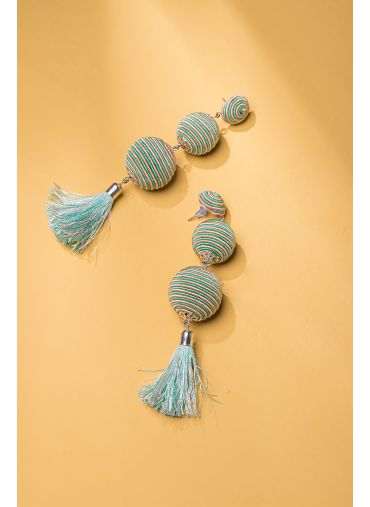 Pom-pom Tassel Earrings