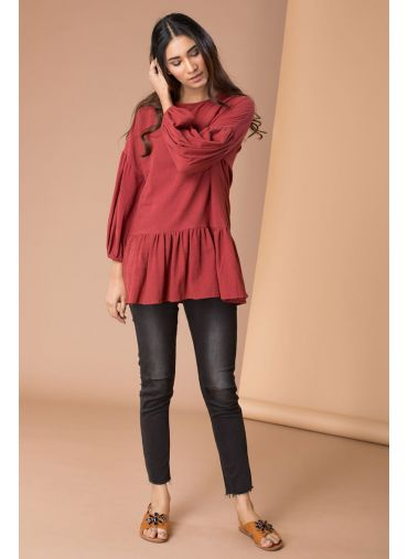 Mellow Maroon Top