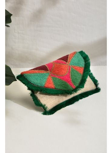 FIONA EMBROIDERED CLUTCH BAG