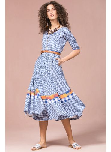 Maxi Gingham Play Dress