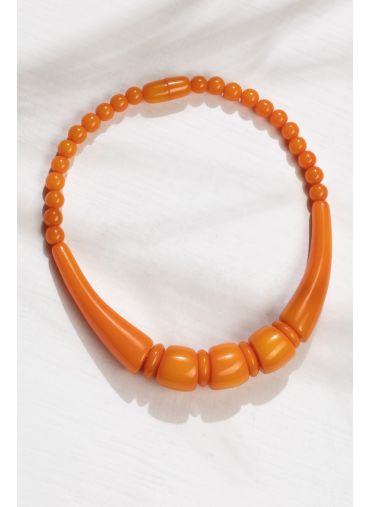 PERSIMMON ORANGE NECKLACE