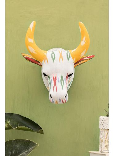 Bull Hunter Ikat Wall Decor