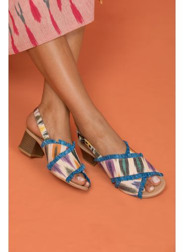 Blue Me Away Ikat Sandals