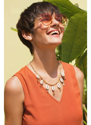 Soft Summer Orange Sunglasses