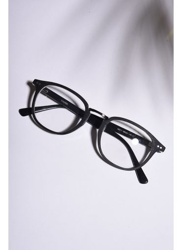 Matte Black Wooden Spectacles