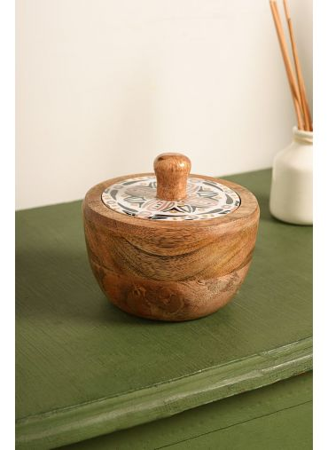 Intrinsic Wooden Storage Jar