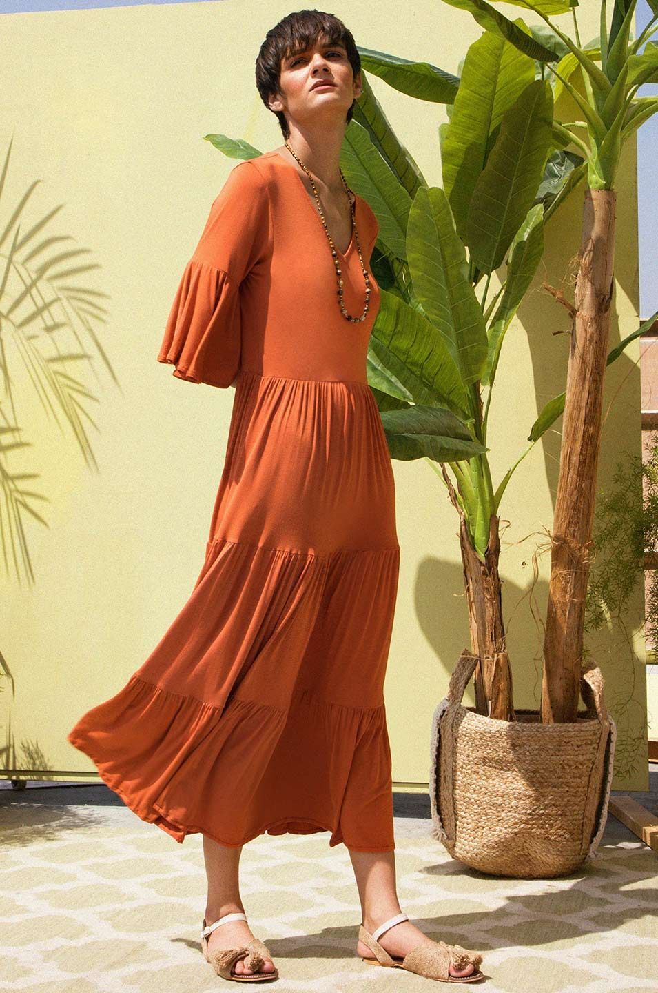 Carnival Of Rust Maxi Dress