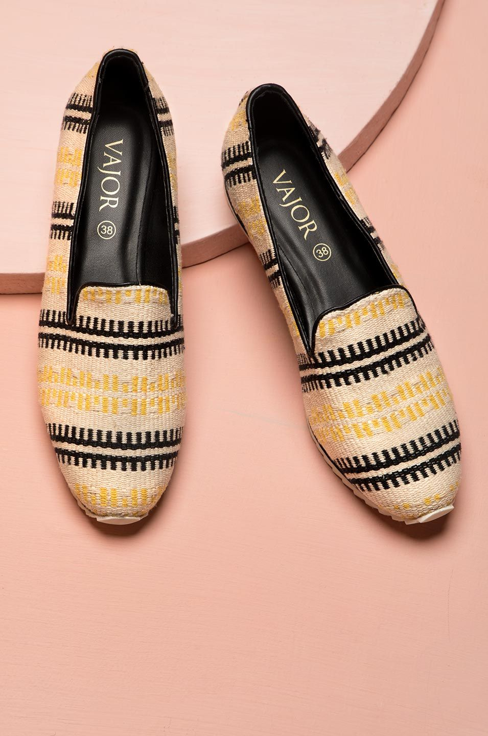 Barbed Wire Ikat Slip Ons