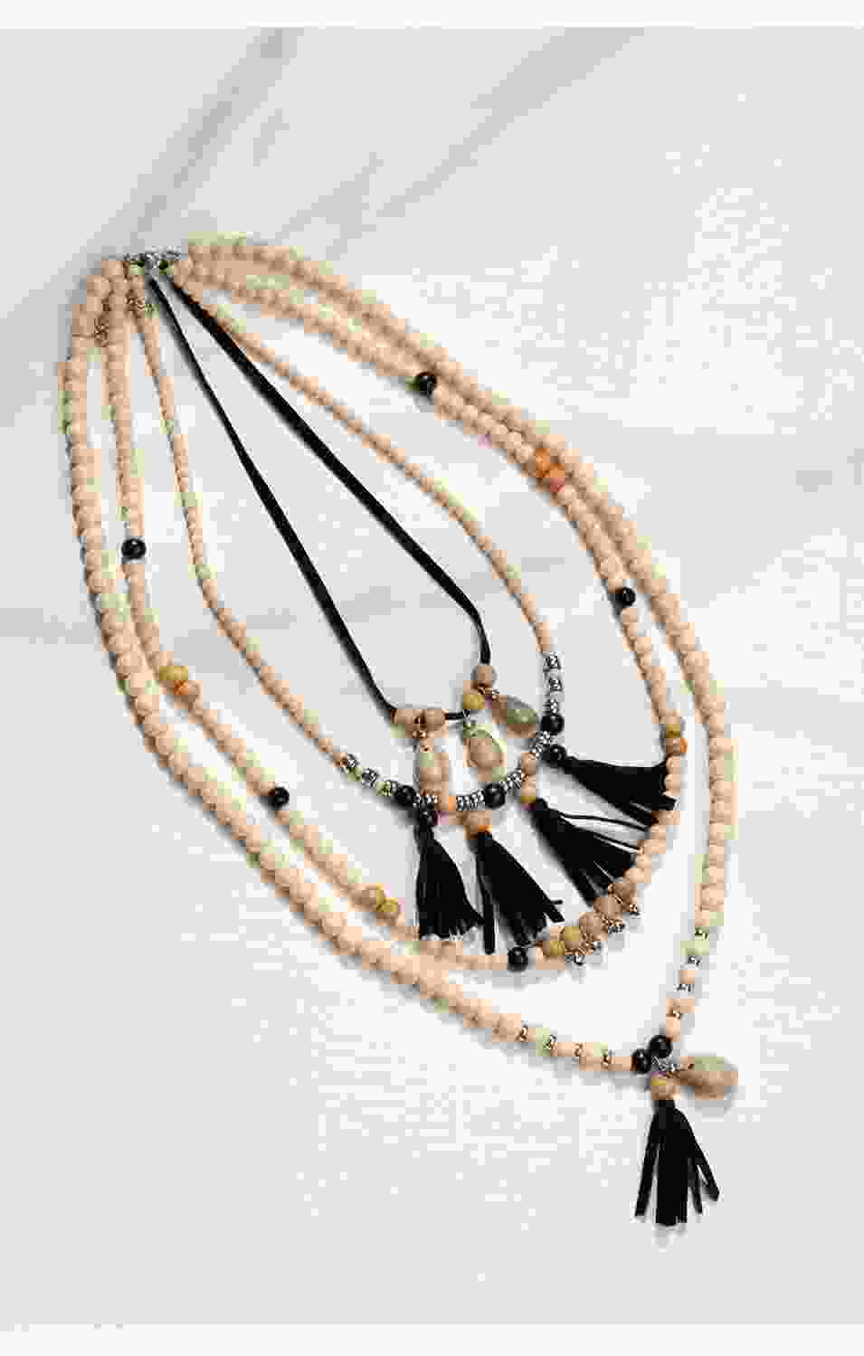 Sun Catcher Layered Bead Necklace