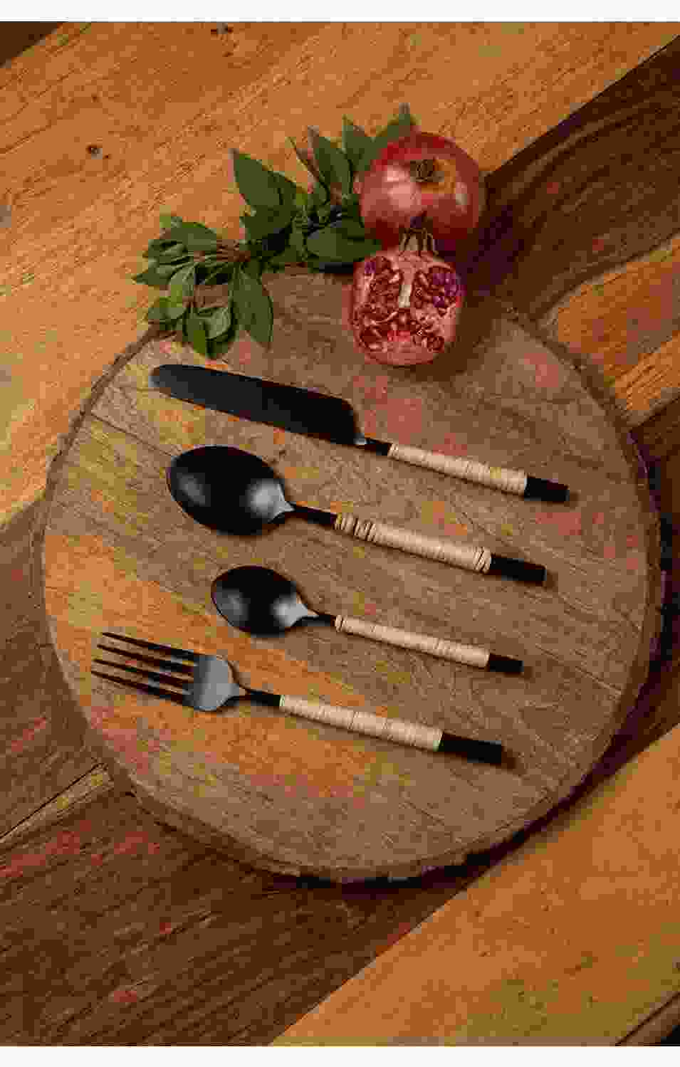 Edlyn Jute handle Spoon Set