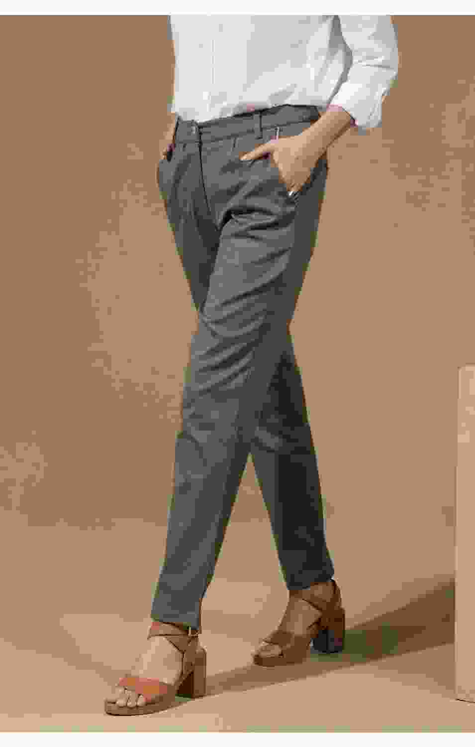 Tapered Olive Pants