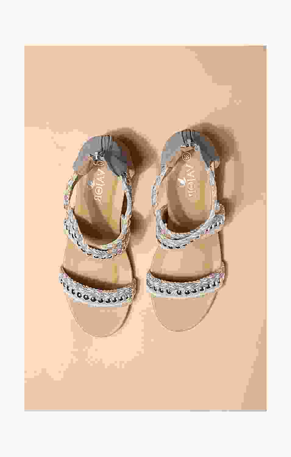 Ivory Beaded Sandals