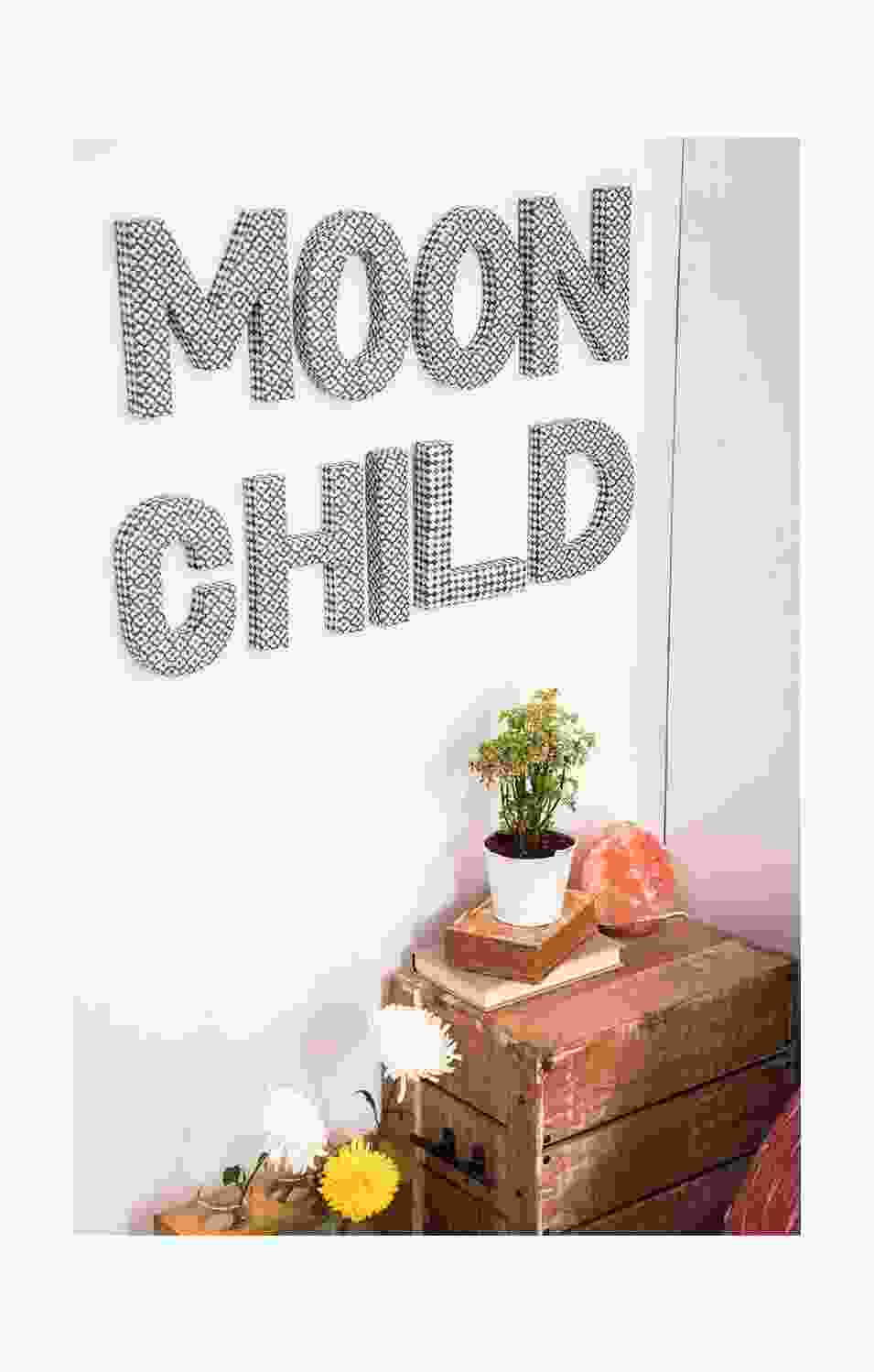 Moon Child Alphabet Wall Art