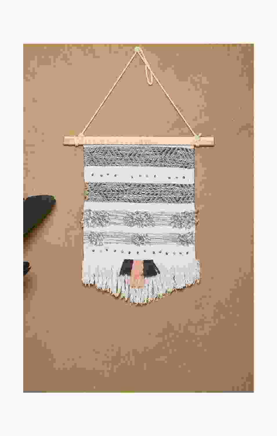 Ruched Tassel Wall hanging