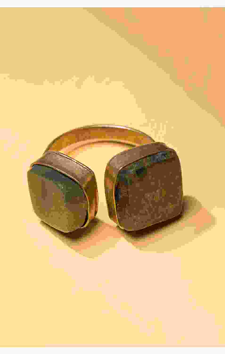 Wooden Stone Ring