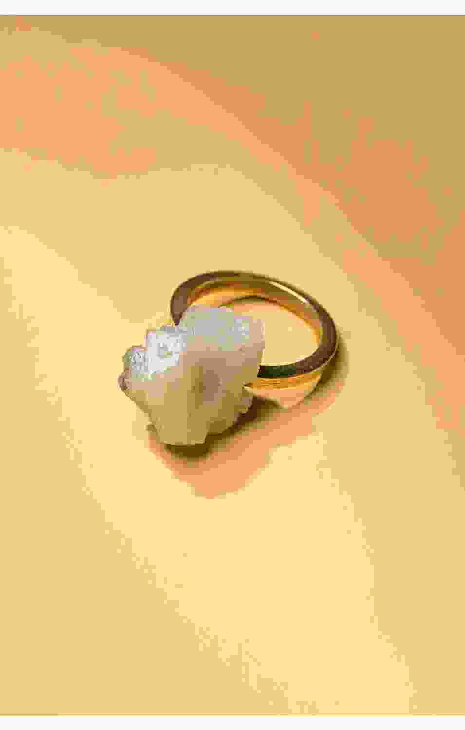 Green Mineral Stone Ring