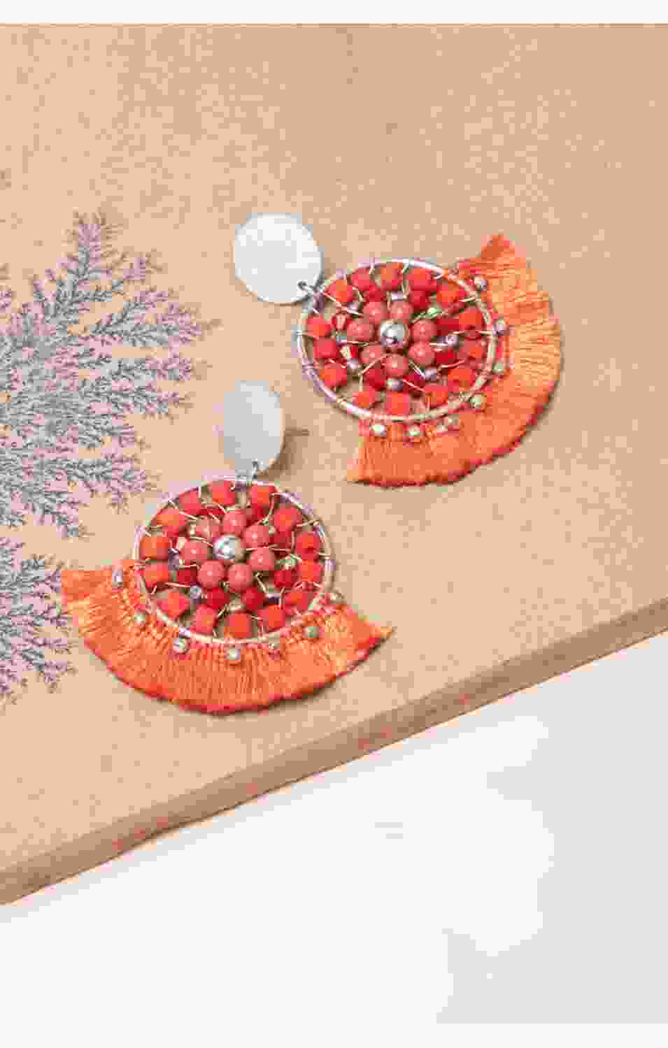 Coral Maze Earrings