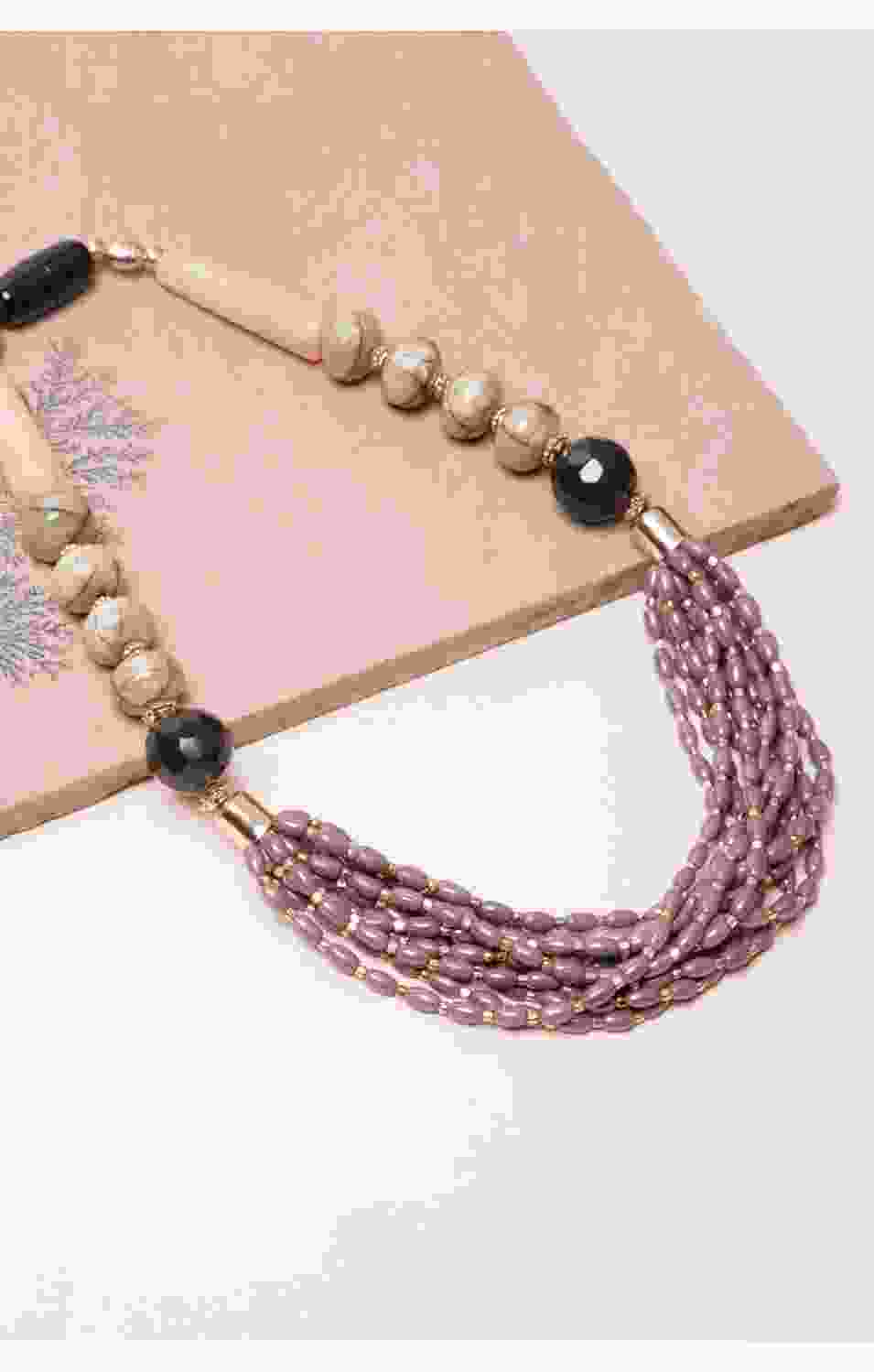 Mauve Statement Necklace