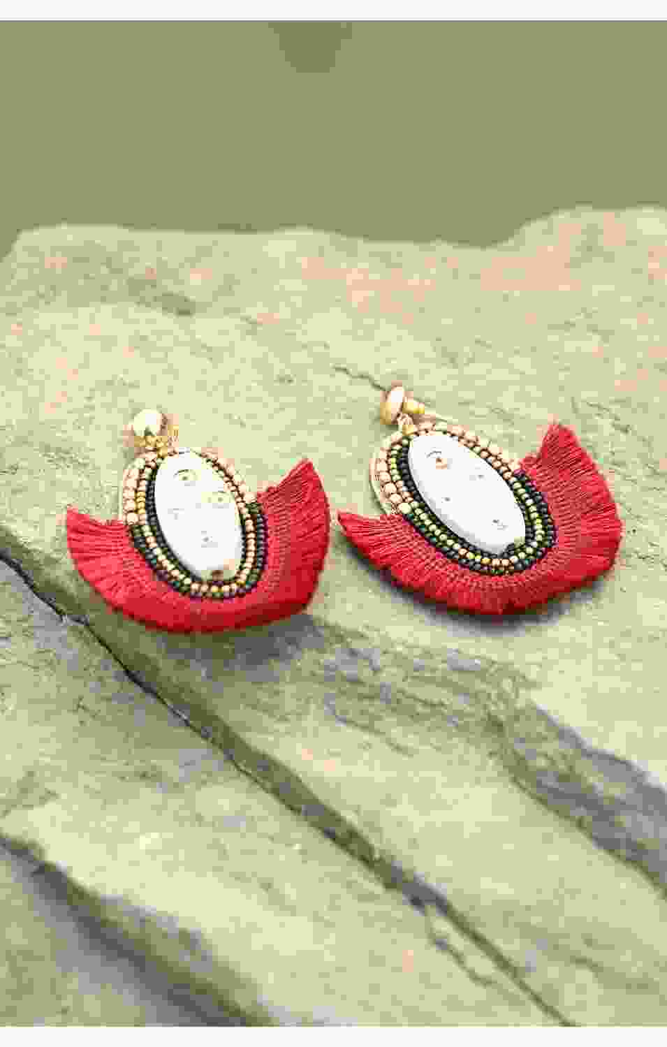 Maroon Tribal Earrings