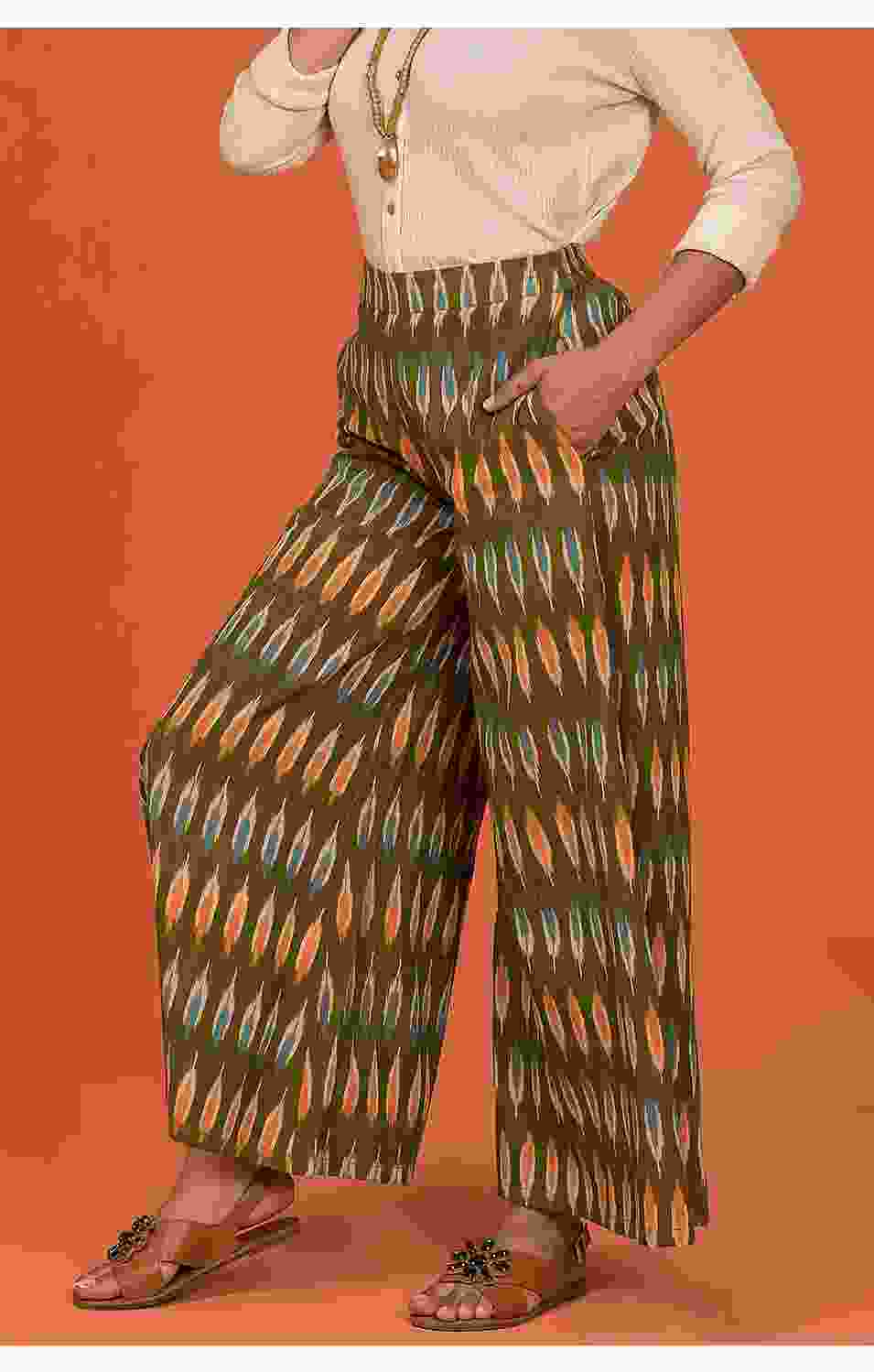Kaleidoscopic Flared Pants
